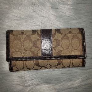 Vintage Coach Wallet w/Checkbook Holder